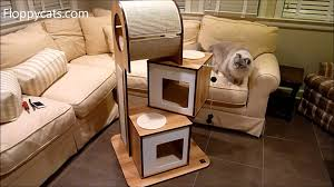 modern cat tower hagen vesper cat furniture v tower cat tower arrives for review