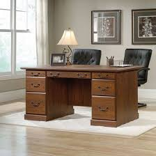 Sauder Lateral File Cabinet Assembly by Sauder 418646 Orchard Hills Milled Cherry Executive Desk