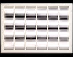 Decorative Return Air Grille 20 X 20 by 20 X 10 Steel Return Air Filter Grille For 1 Filter Removable