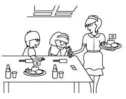 Kids Restaurant Coloring Pages