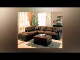 living room decorating ideas with dark brown sofa youtube