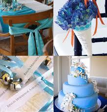 décoration de mariage bleu turquoise la mer le soleil et les