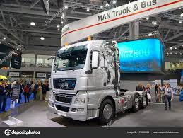 100 German Trucks MOSCOW SEP 5 2017 Silver MAN Truck On Commercial Transport