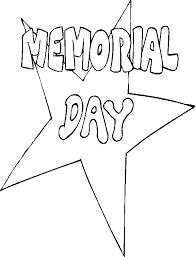 Memorial Day Coloring Star