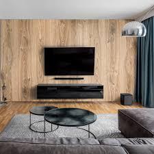 wandverkleidung für das wohnzimmer mit holz v1 motiv