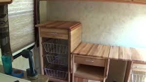 Travel Trailer Remodel Part 5 Building Catskill Craftsmen Contemporary 21 In Kitchen Work Center