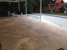 travertine patio fill holes or not