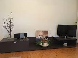 design wohnwand hifi tv board schrank hängeschränke glas eiche