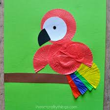 We Glued Ours Onto A Bright Green Sheet Of Cardstock Paper So The Colors Bird Would Really Pop It Turned Out Colorful And Fun