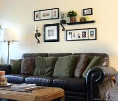 Shelves Above Couch Wall Decoration Decor Art And Storage