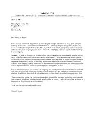 Information Technology Cover Letter No Experience
