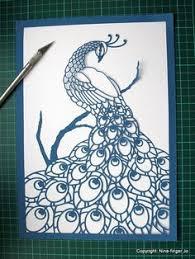 Tri Colour Papercutting Template A4