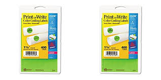 Amazon Avery 5498 Removable Print Or Write Color Coding Labels For Laser Printers 1 4 Round