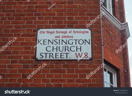 100 Kensington Church London Street Sign Street Stock Photo Edit Now