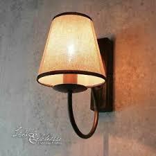 details zu rustikale wandleuchte shabby braun beige e14 le wand wohnzimmer schlafzimmer