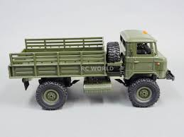 1/16 RC 4WD Truck ROCK CRAWLER Scale MILITARY Truck LED + Suspension ...