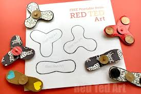 easy fidget spinner diy free template science fair project