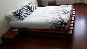 built wood pallet platform bed