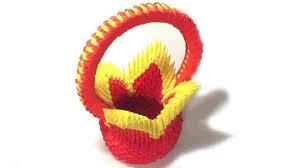 Images Paper Crafts Papercraft Rhcom Basket With Flowers Tutorial Diy Craft Rhyoutubecom D