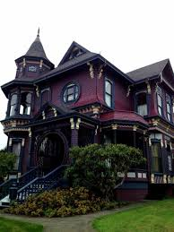 Deep Purple Bedrooms by Gothic Victorian House With Deep Purple Wall Color Elegant And