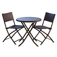 Portofino Patio Furniture Manufacturer by Rst Brands 3 Piece Patio Bistro Set Op Pebs3 The Home Depot