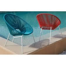 chaise de plage carrefour carrefour carrefour fauteuil de jardin à cordes acapulco acier