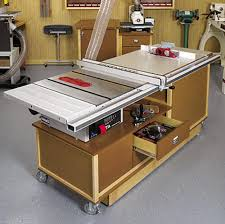 mobile sawing u0026 routing center woodworking plan from wood magazine