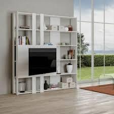 details zu bücherregal mit tv wand kato m aus holz itamoby wohnzimmer büro modern 178x204cm