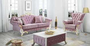 casa padrino baroque living room set pink white gold 2 sofas 2 armchairs 1 coffee table living room furniture in baroque style noble