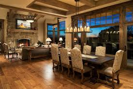 modern ranch rustic dining room minneapolis by kyle hunt