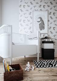 papier peint pour chambre bébé une chambre d enfant en noir et blanc