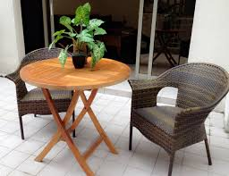 Product : Round Folding Teakwood Outdoor Table | Expats ...
