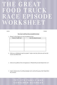 The Great Food Truck Race Episode Worksheet   Culinary Bulletin ... Amazoncom The Great Food Truck Race Season 9 Amazon Digital Takes On Wild West In Return Of Summer Network Says Idea Is A Sdpb Radio Gossip Preview And Heat For New Roster Hopefuls Who Put This 2 Episode 33 The Great Food Truck Race Returns As Family Affair With Brandnew 4 Where In The World Is Lubec 6 1 Youtube Winner Went From Worst To First