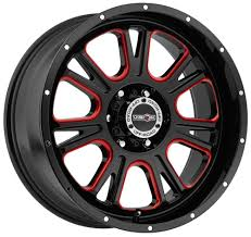 5 Lug 5x139.7 5x5.5 Black N Red Lifted 20