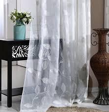 lent âme blanc feuilles rideau pour salon tissu pour rideaux