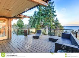 100 Panorama House Modern Two Story With Puget Sound View Stock