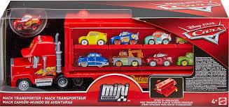 CARS MINI RACER MACK TRUCK TRANSPORTER , | Cars At TOYS