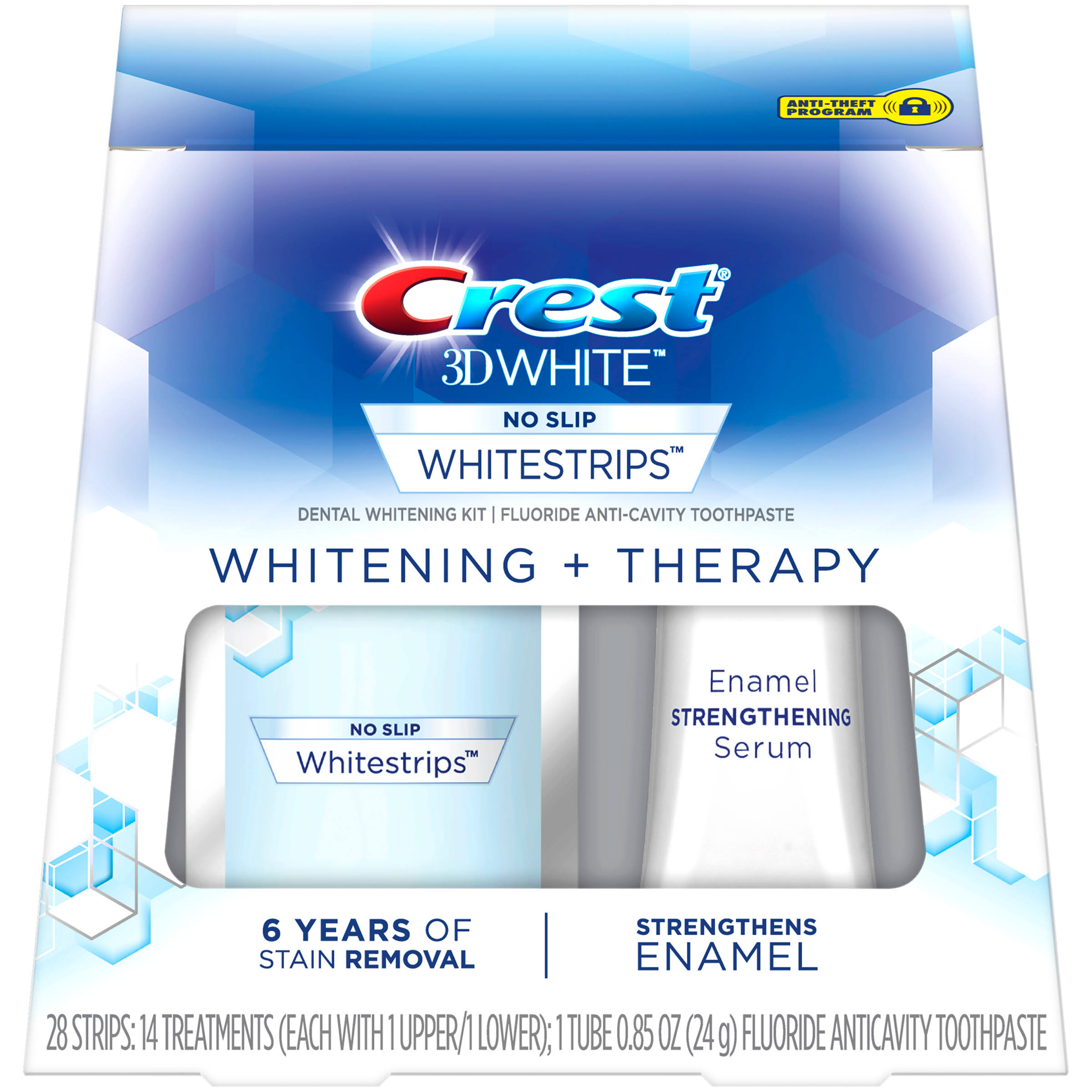 Crest 3D White Whitestrips Whitening + Therapy Teeth Whitening Kit - 14ct