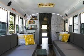 Eight College Friends Convert A School Bus Into RV Tiny House