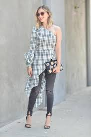 Cupcakes And Cashmere Blogger Sunglasses Shirt Dress Jeans Shoes Bag Spring Outfits One Shoulder Clutch Sandals