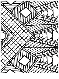 Coloring Pages Printable Awesome Picture For 12 Year Olds Geometric Mosaic Modern Designing Book Color