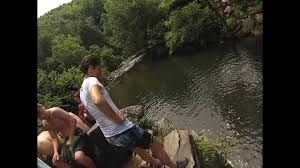 cliff jumping at the sinks in the great smoky mountains youtube