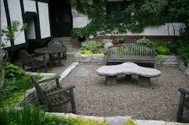 Pea Gravel Patio Images by Pea Gravel Patio With Wooden Benches Ways To Coat Pea Gravel