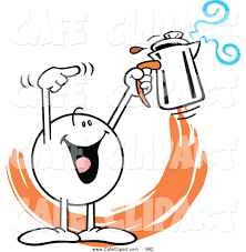 Vector Cartoon Clip Art Of A Friendly Moodie Character Holding Percolator