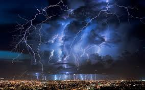 City Night Nature Lightning Storm Atmosphere Thunder Midnight Weather Thunderstorm 1920x1200 Px Phenomenon