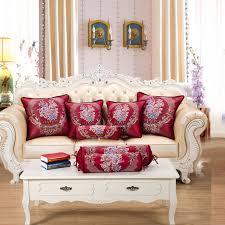 coussin de luxe pour canapé beige café vin de luxe jacquard classique vintage oreiller