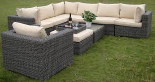 Exclusive Inspiration Outdoor Wicker Furniture Set Melrose Rattan