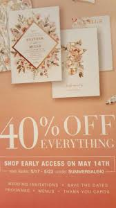 PSA: 40% Everything At Wedding Paper Divas 5/14- 5/23 ... Lowes Military Promotional Code Online Bayer Meter Coupon Pdf Wedding Paper Divas 10 Free Invitations Invitation Promo Code For Anarchistshemale Archives The Brokeass Bride Badass Dos And Donts Of Papers Divas M M Colctibles Store Tps_header Wedding Paper Promo Updated Weekly 8 Reviews Joodsfilmfestivalnl