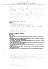 Download Sales Administrative Assistant Resume Sample As Image File