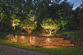 deck and wall lighting outdoor accents pool with retaining light